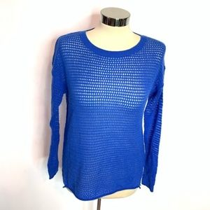 360 sweater cashmere perforated sweater